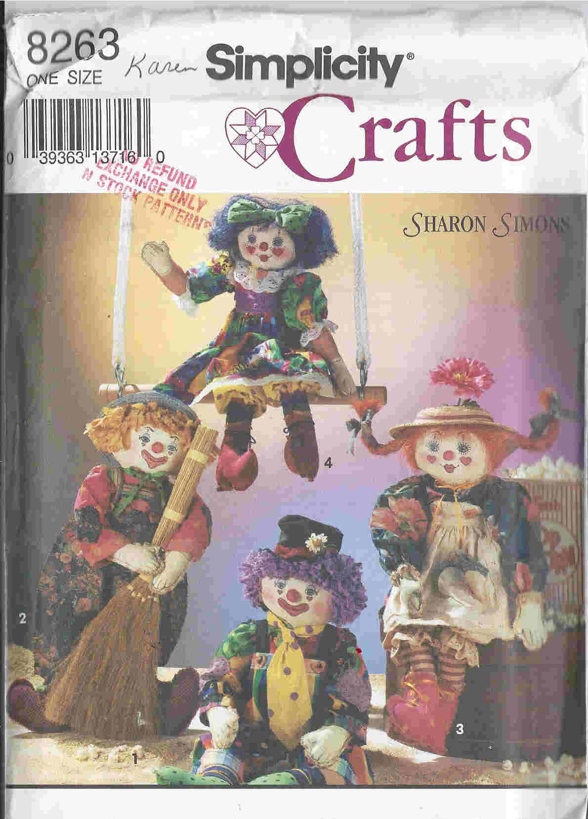 clown dolls sewing pattern