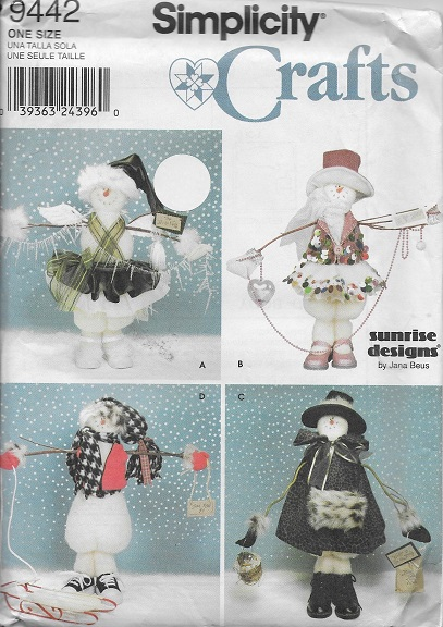 snow people sewing pattern
