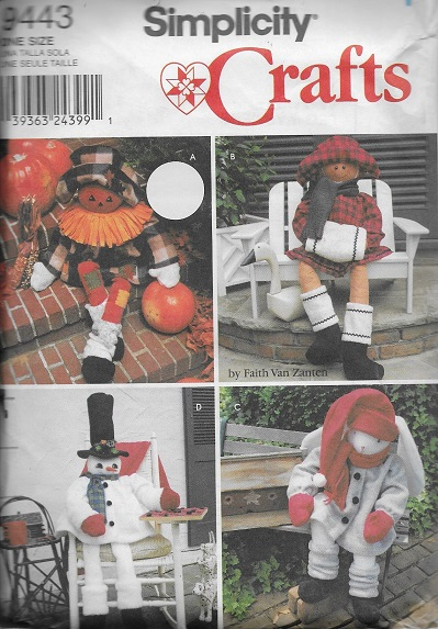 fall winter porch sitters scarecrow sewing pattern