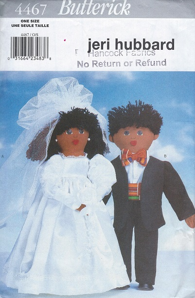 wedding Doll sewing pattern