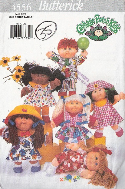cabbage patch kids clothes sewing pattern