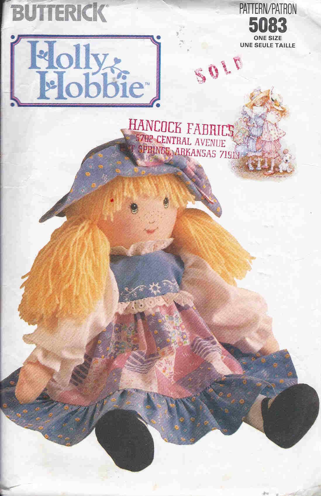 Holly Hobbie sewing pattern