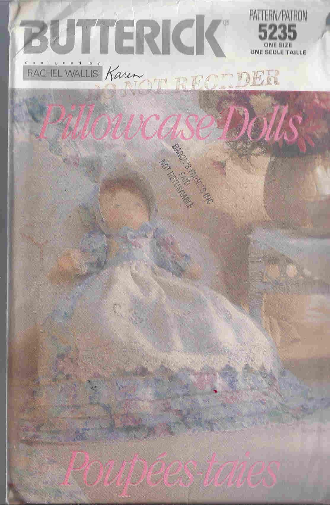 pillowcase dolls sewing pattern