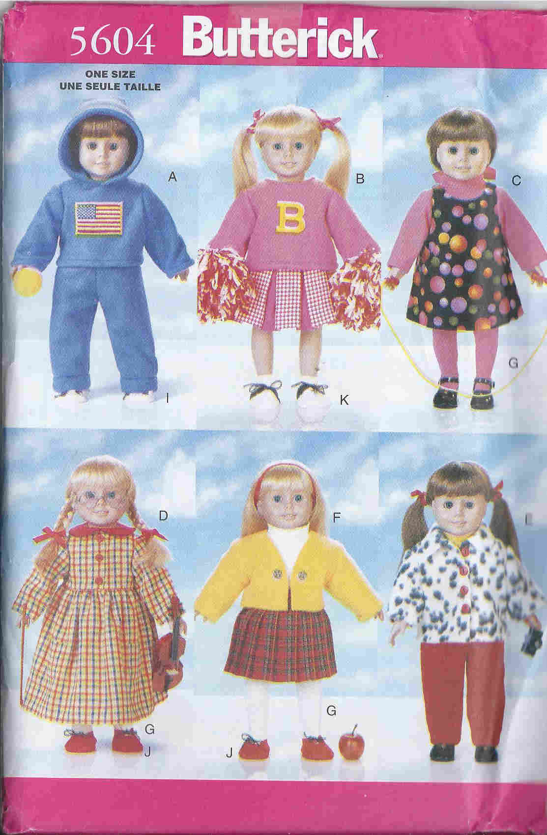back to school doll clothes sewing pattern