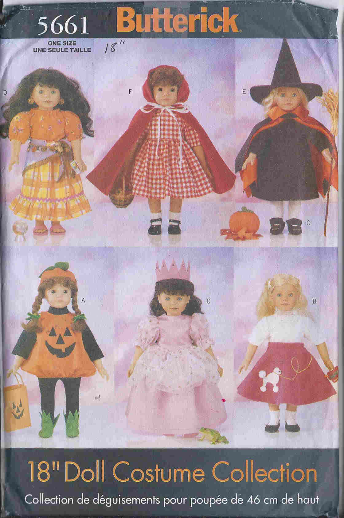 american girl costume doll sewing pattern