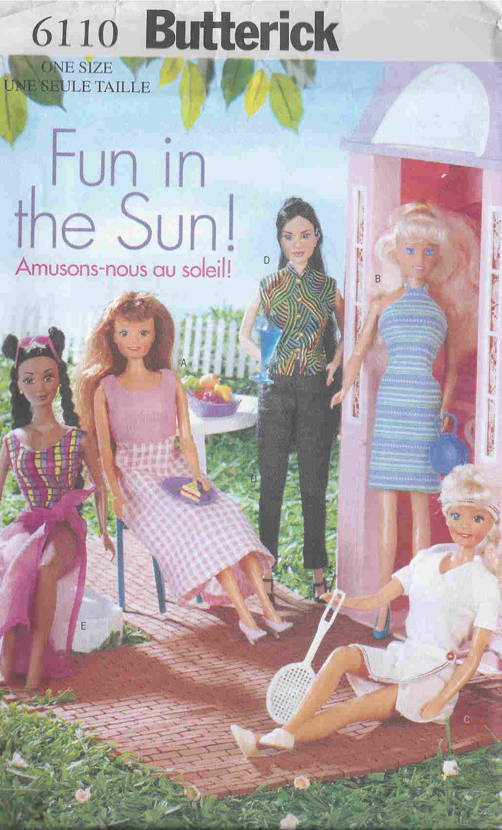 barbie fashion doll outfits dress skirt sewing pattern