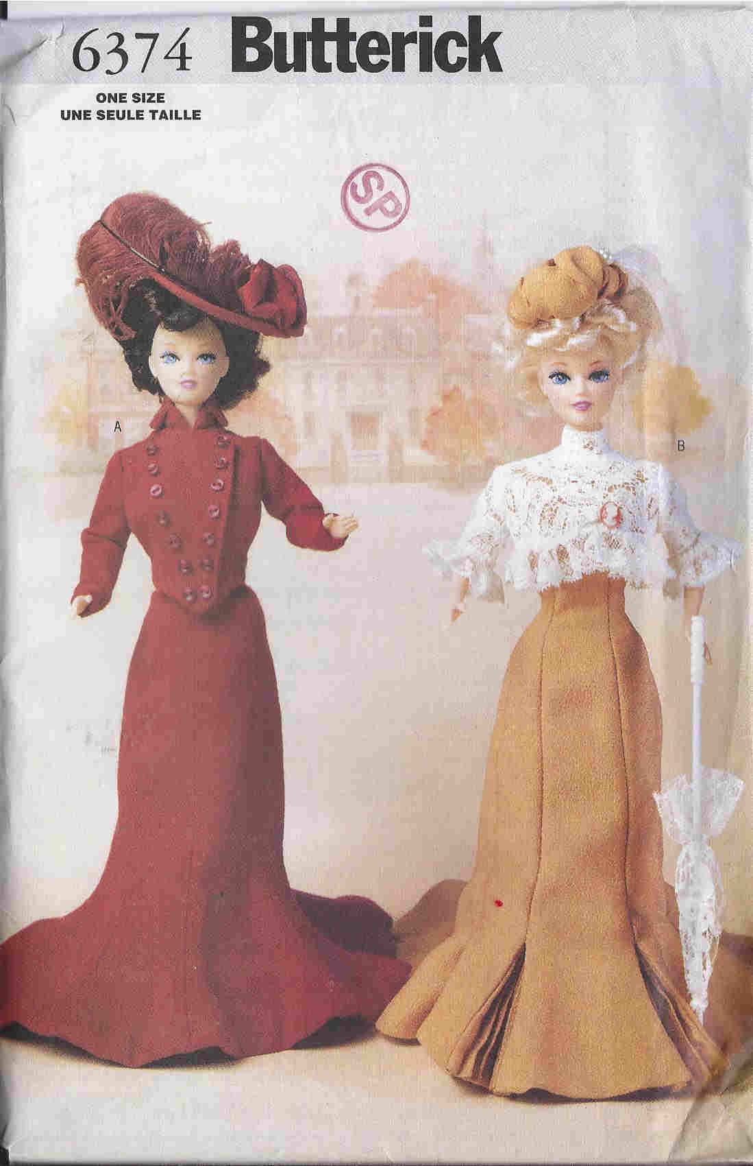 fashion doll delineator sewing pattern