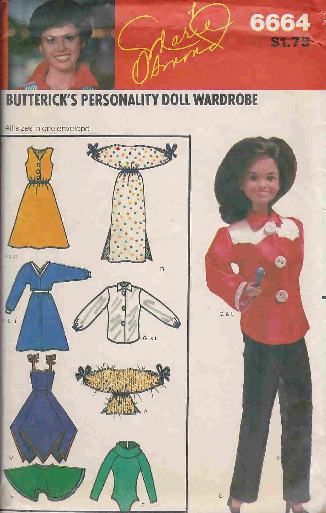 marie osmond personality fashion doll sewing pattern
