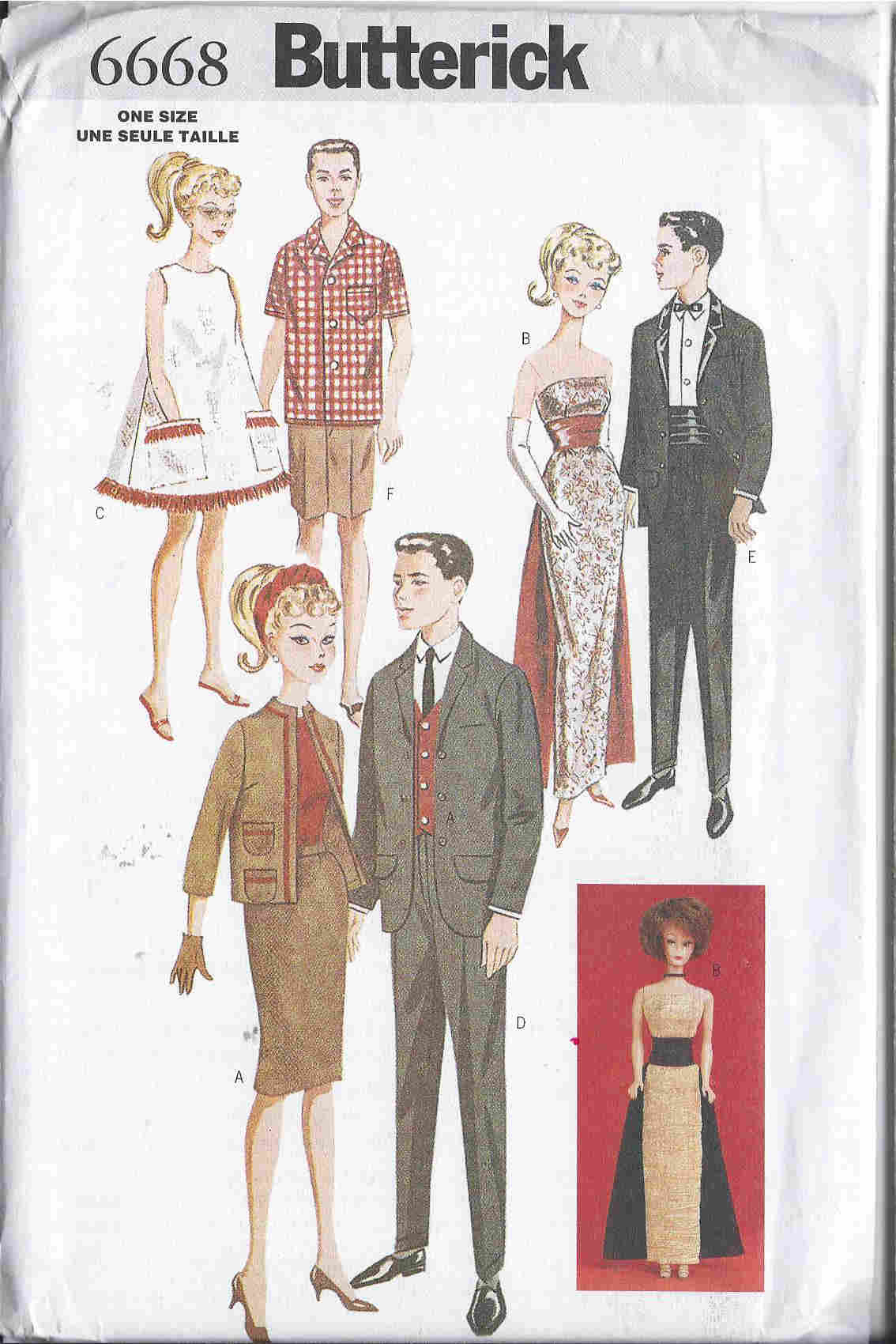 fashion doll suit evening gown tuxedo sewing pattern