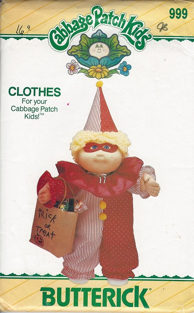 cabbage patch kids costume sewing pattern