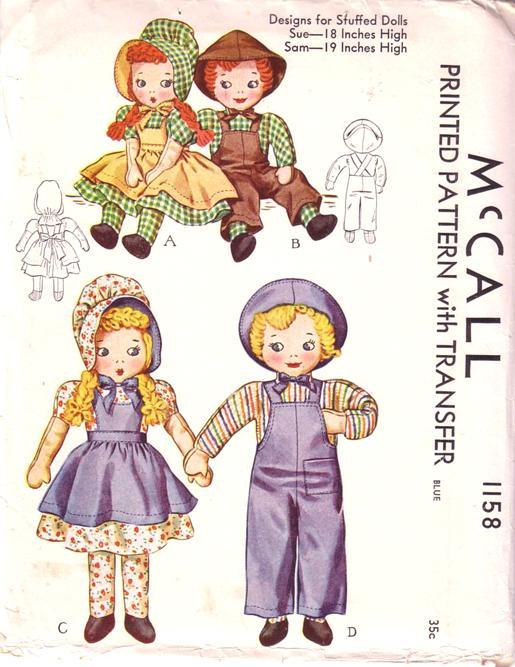 sue & sam doll sewing pattern
