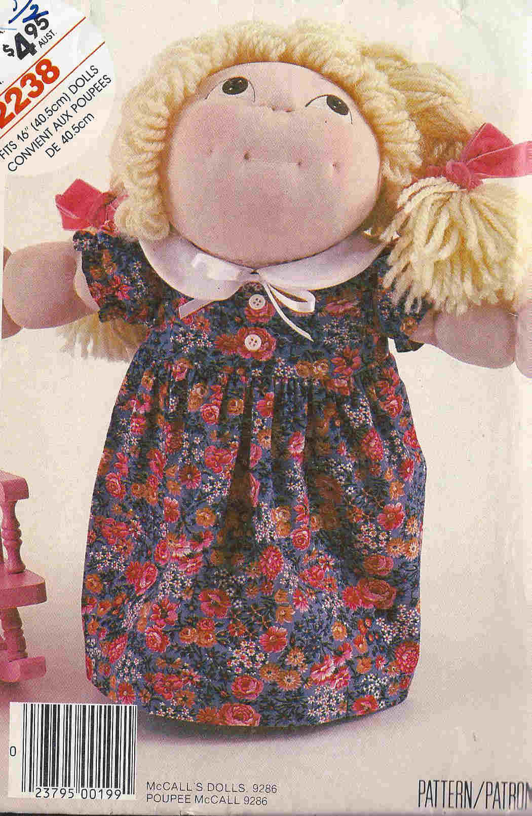 DellaJane Sewing Patterns For Cabbage Patch Kids and Soft Sculpture ...