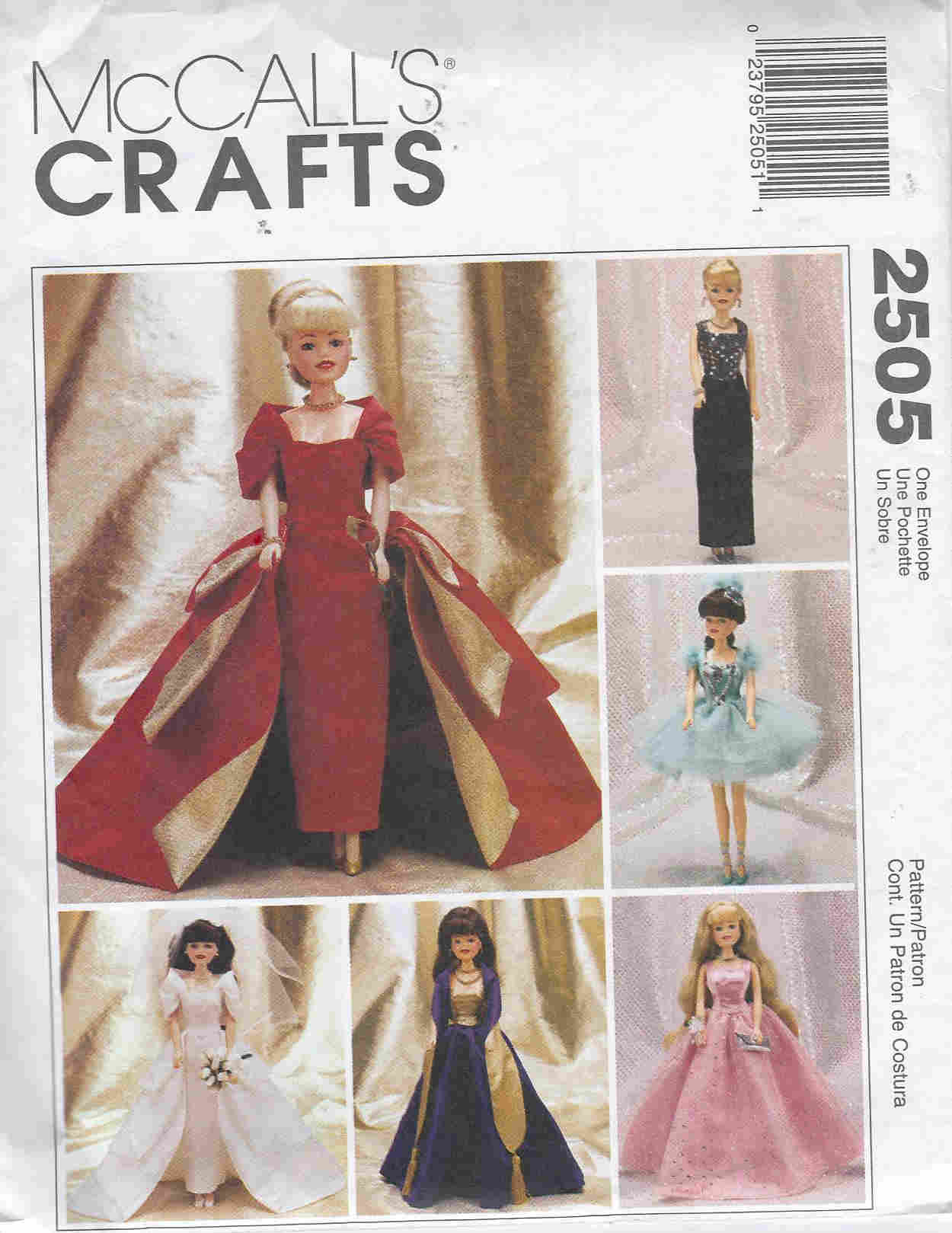 evening wear fashion doll sewing pattern