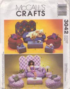 fashion doll furniture sewing pattern