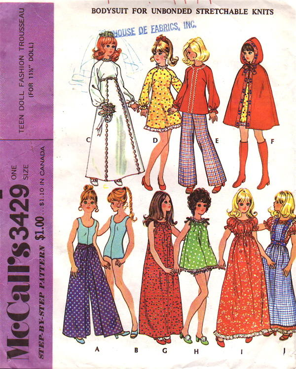 fashion doll trousseau sewing pattern