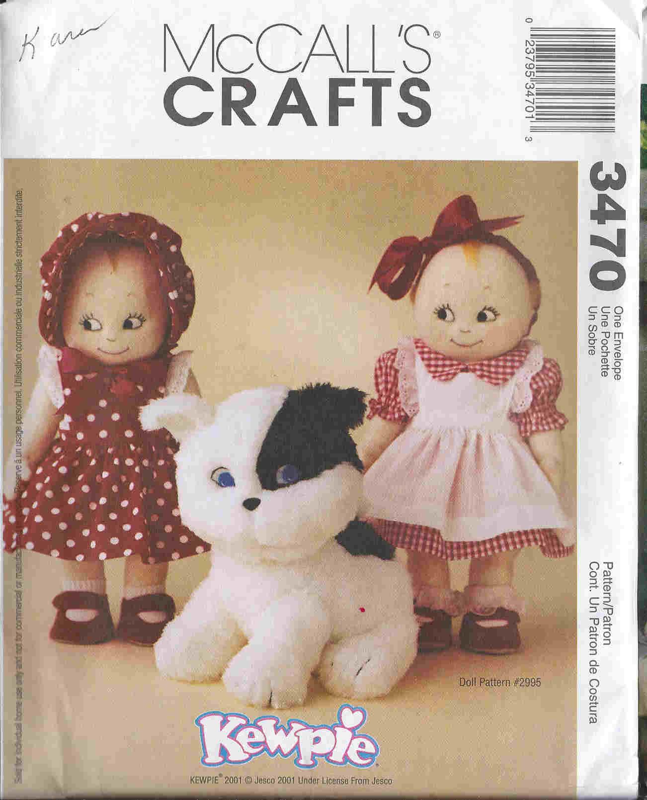 Kewpie Doll sewing pattern