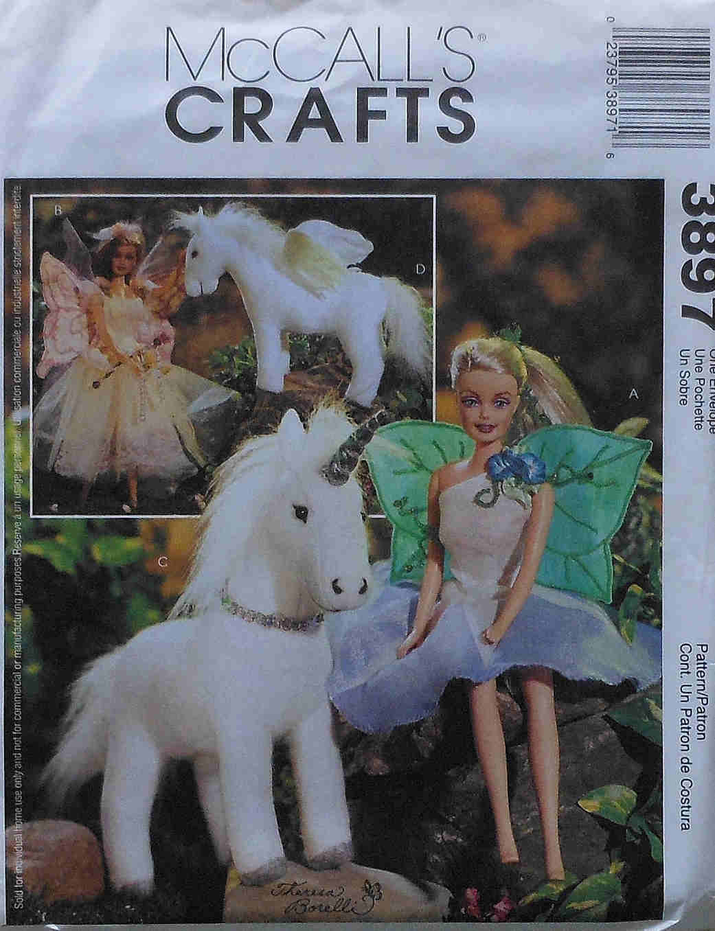 fashion doll fairy costume sewing pattern