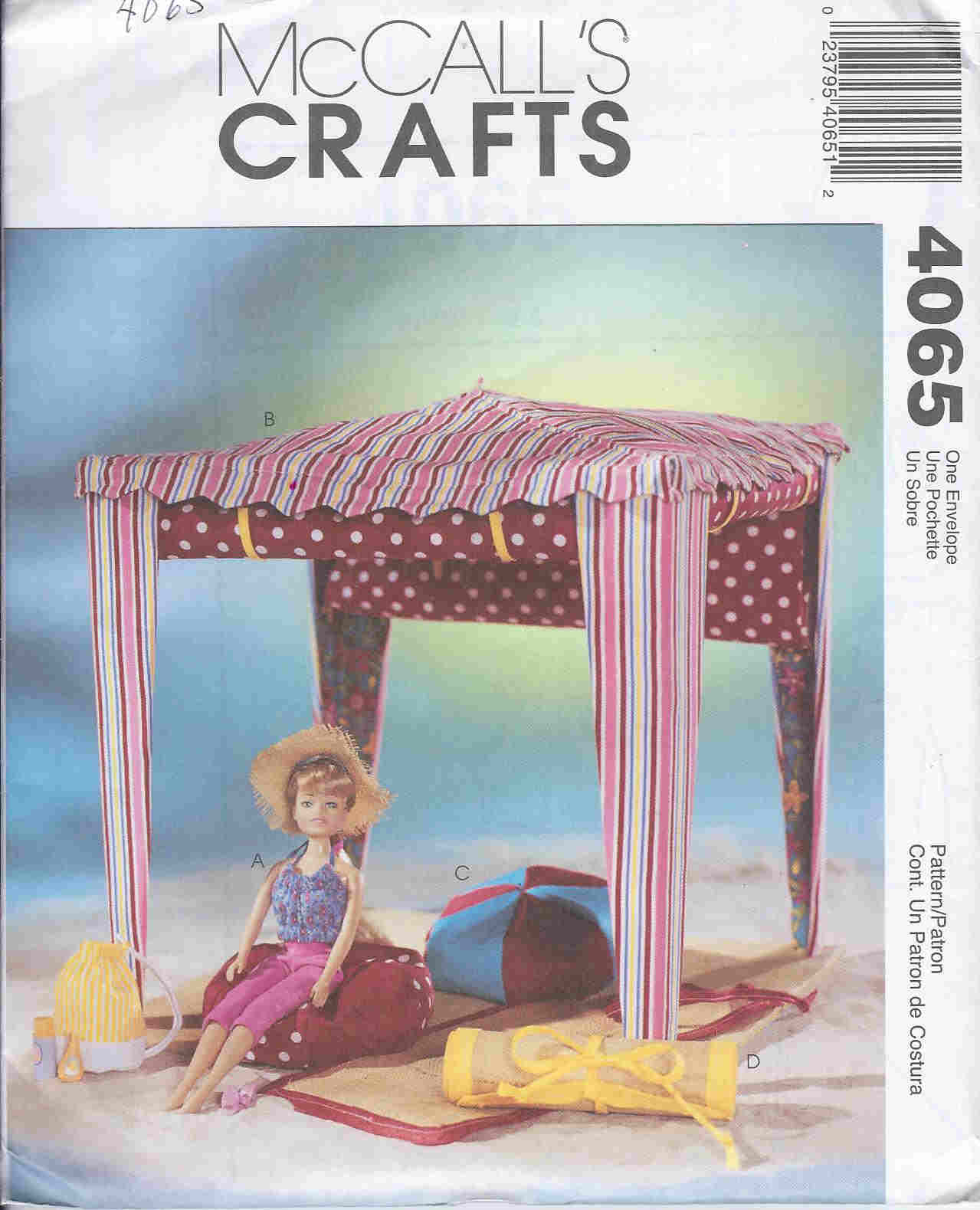 fashion doll beach accessories sewing pattern
