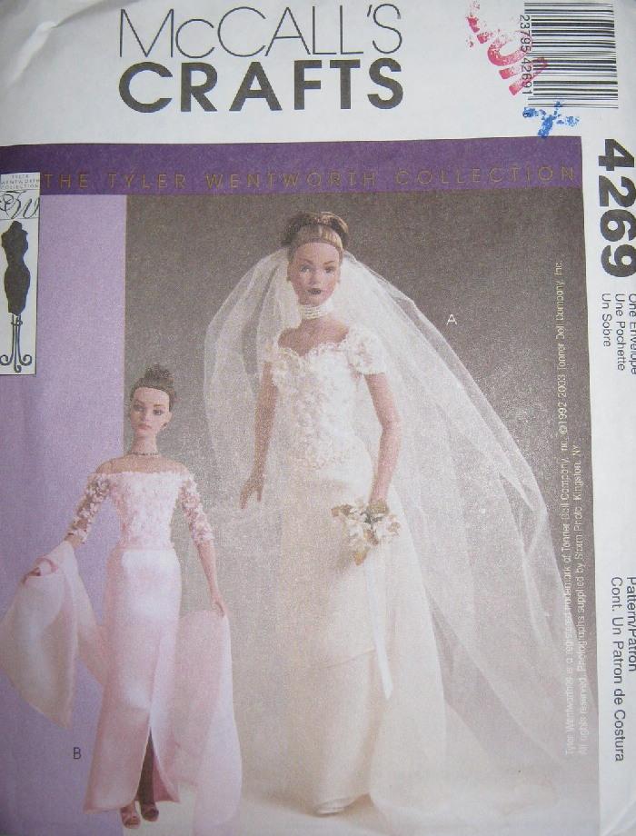 Tyler Wentworth fashion doll bridal gown sewing pattern