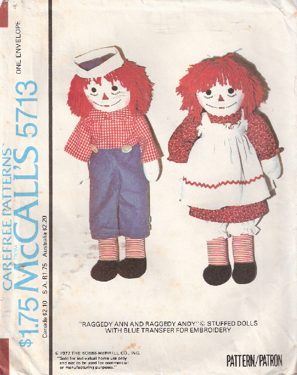 doll sewing pattern