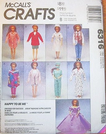 fashion doll sewing pattern