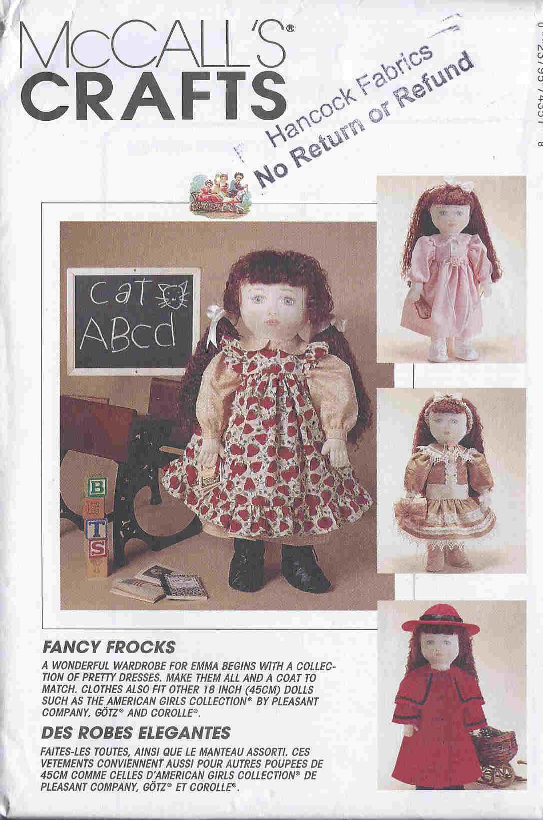 Dellajane sewing patterns 18 doll american girl sewing patterns fancy frocks emma sewing pattern jeuxipadfo Gallery