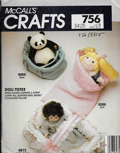 doll sling carrier sleeping bag sewing pattern