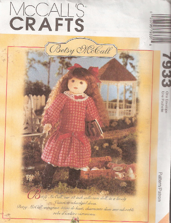 betsy mccall doll sewing pattern