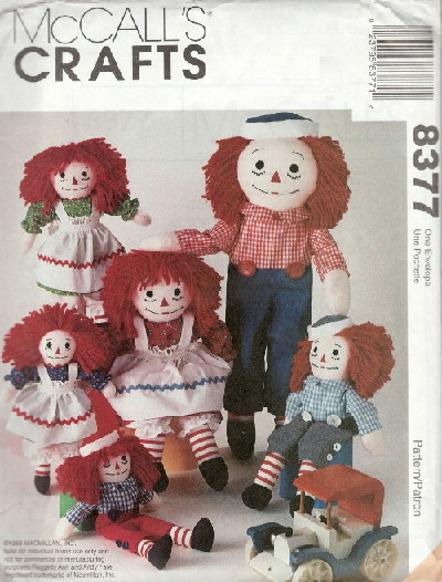 raggedy ann andy sewing pattern