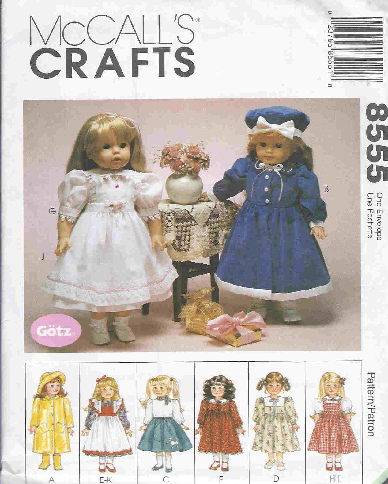 doll outfits raincoat dress sweater apron sewing pattern