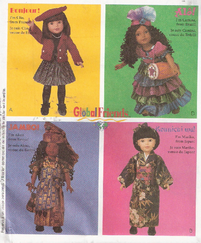 costumes american girl doll sewing pattern