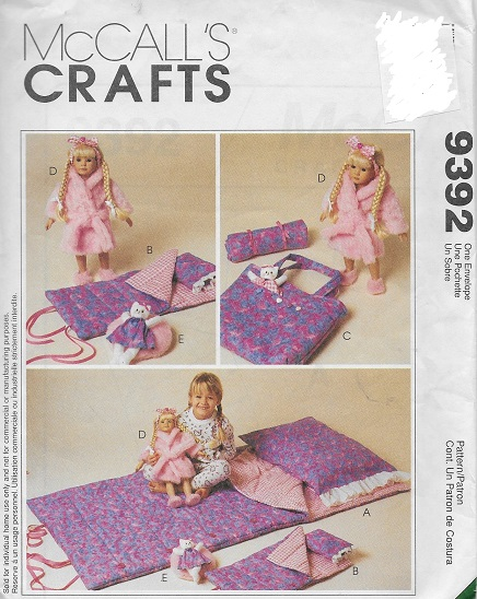 slumber party accessories doll sewing pattern