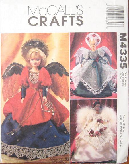 fashion doll angel sewing pattern
