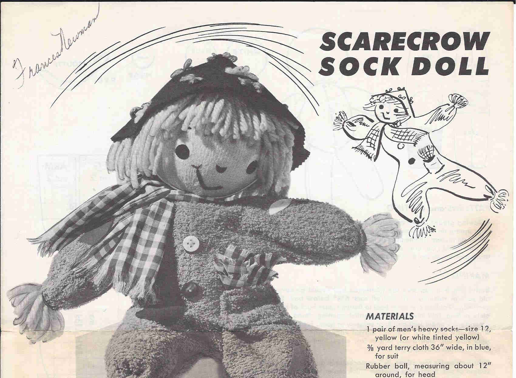 scarecrow doll sewing pattern