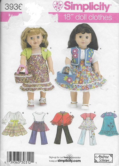 doll clothes dress skirt bag blouse vest dress shirt top poncho sewing pattern