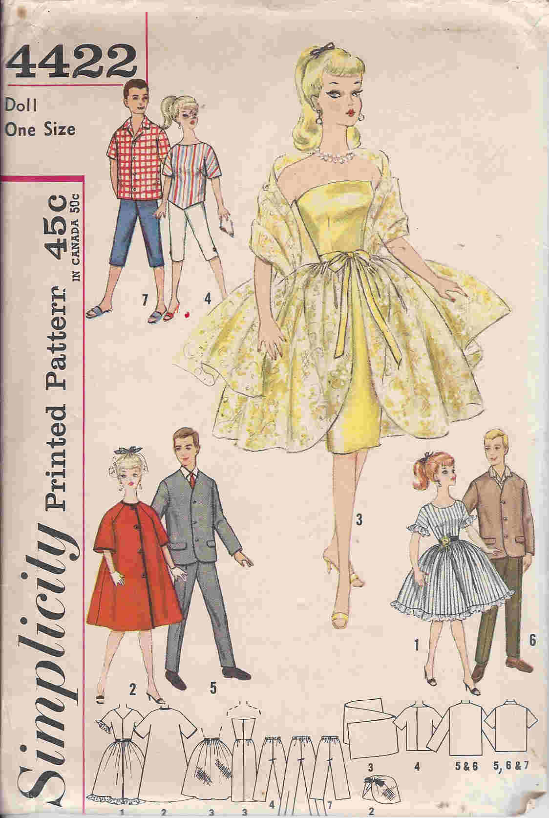 fashion doll wardrobe sewing pattern