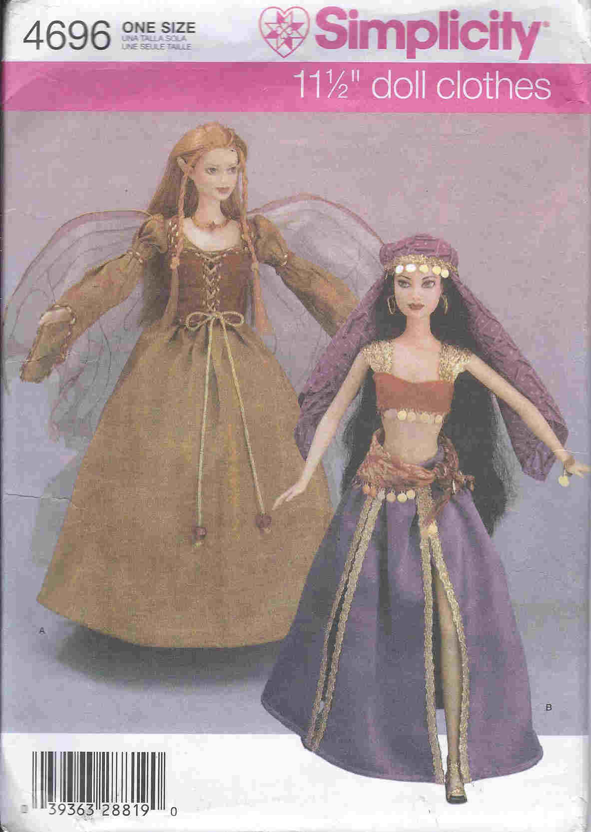 fashion doll fairy gypsy costume sewing patterns