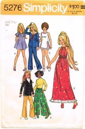 Crissy fashion doll dress blouse blazer pants sewing pattern