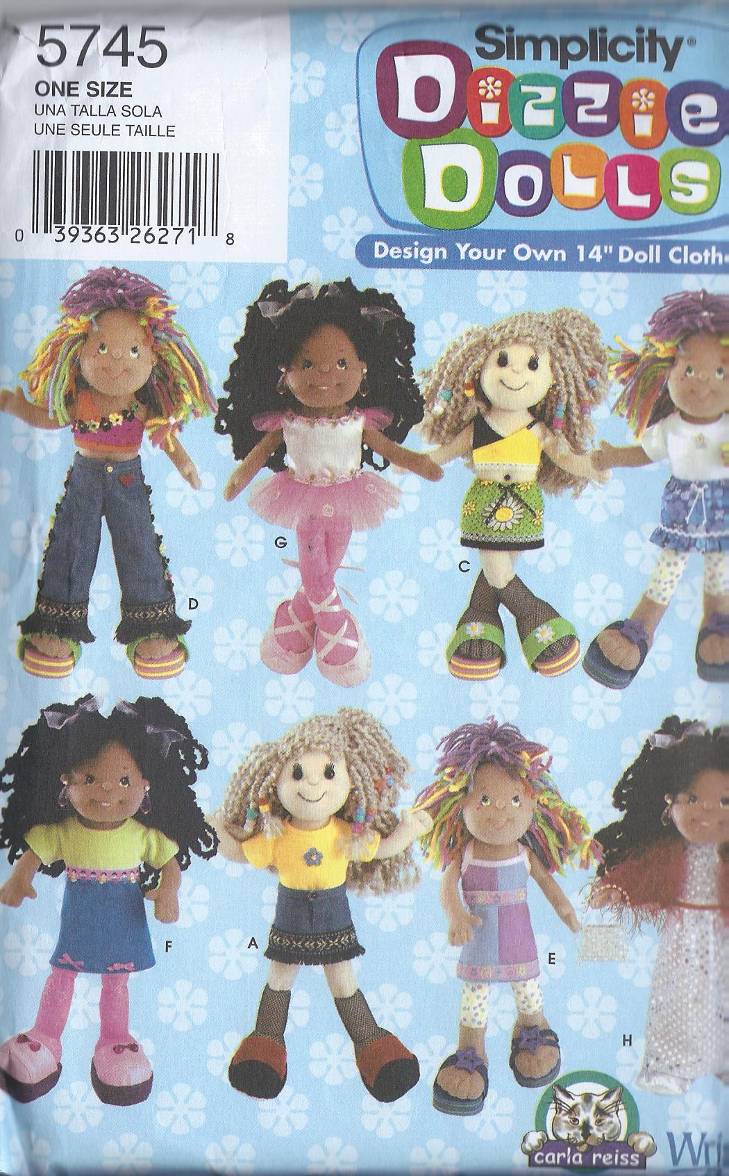 dizzie doll clothes sewing pattern