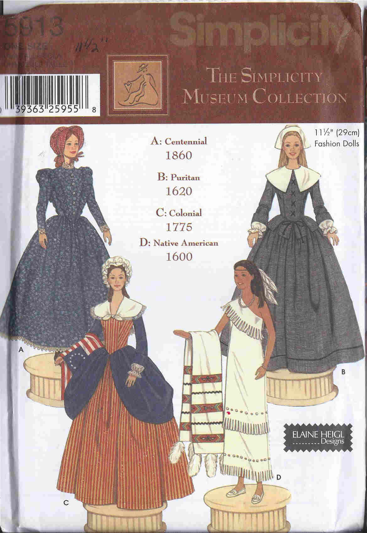fashion doll museum collection sewing pattern