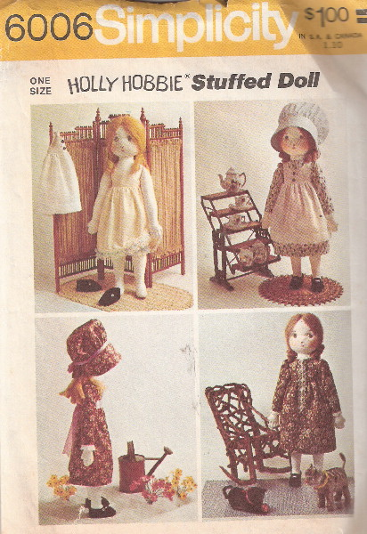 holly hobbie doll sewing pattern