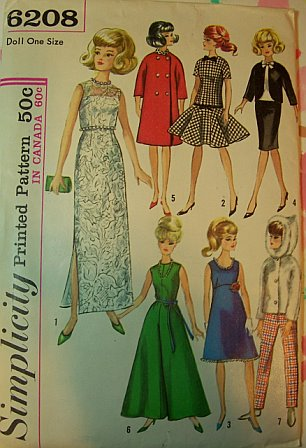 fashion doll barbie wardrobe sewing pattern