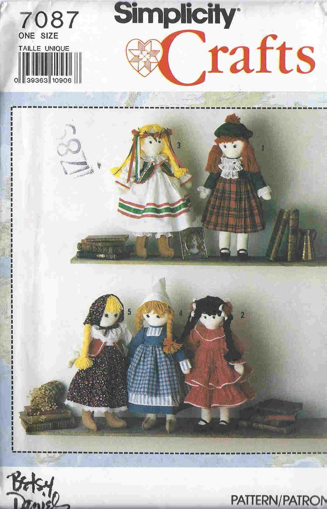 International Doll sewing pattern