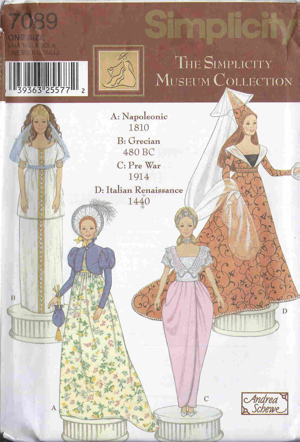 fashion doll museum dress sewing pattern