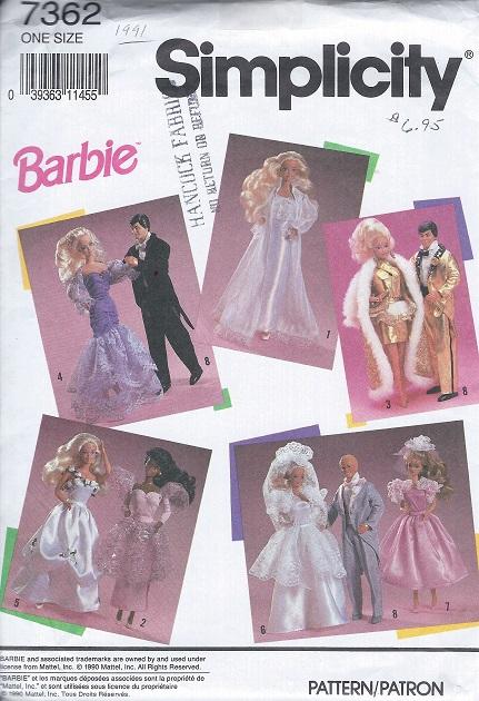 barbie ken doll wardrobe wedding tuxedo dress sewing pattern