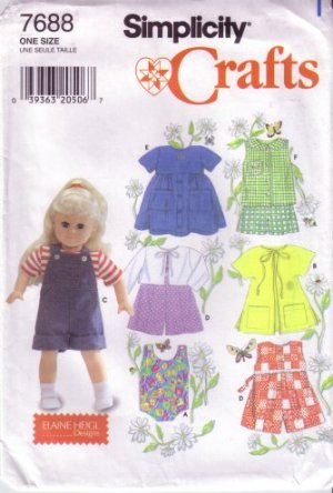 doll swimsuit jumpsuit dress top sewing pattern
