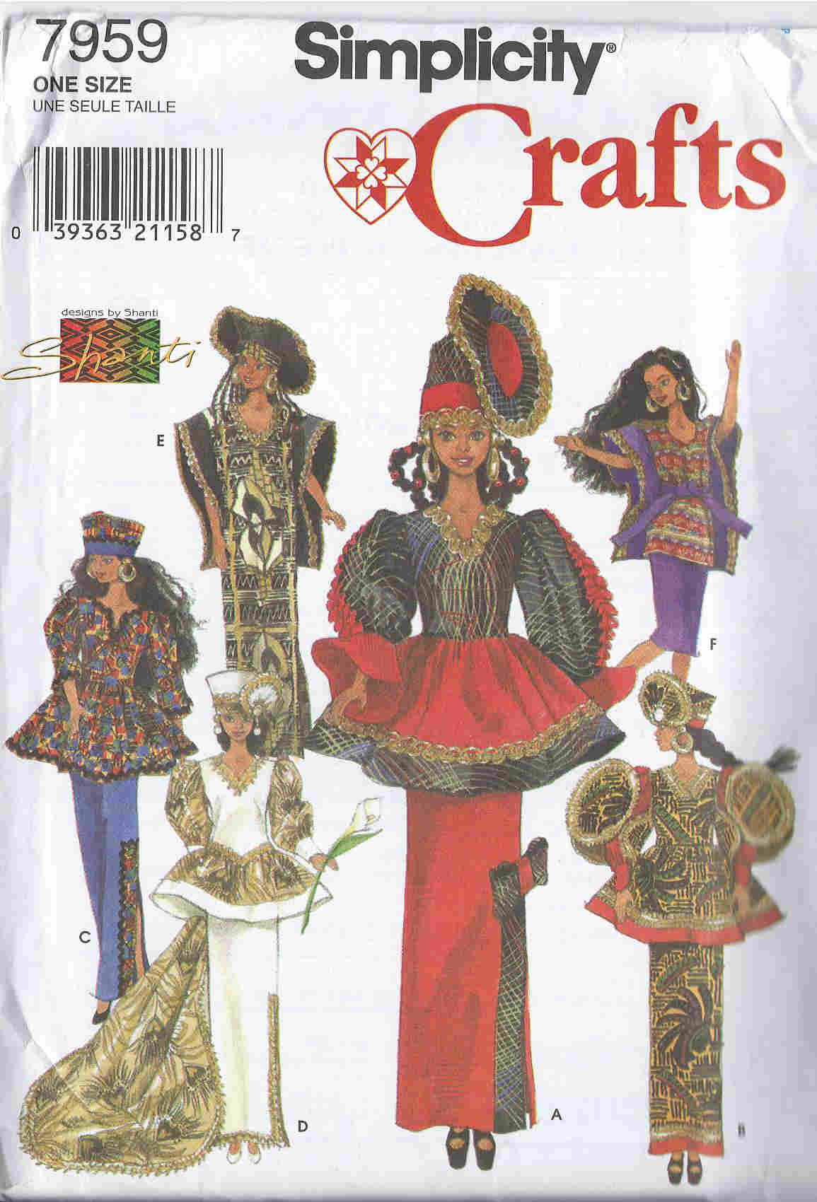 fashion doll african sewing pattern
