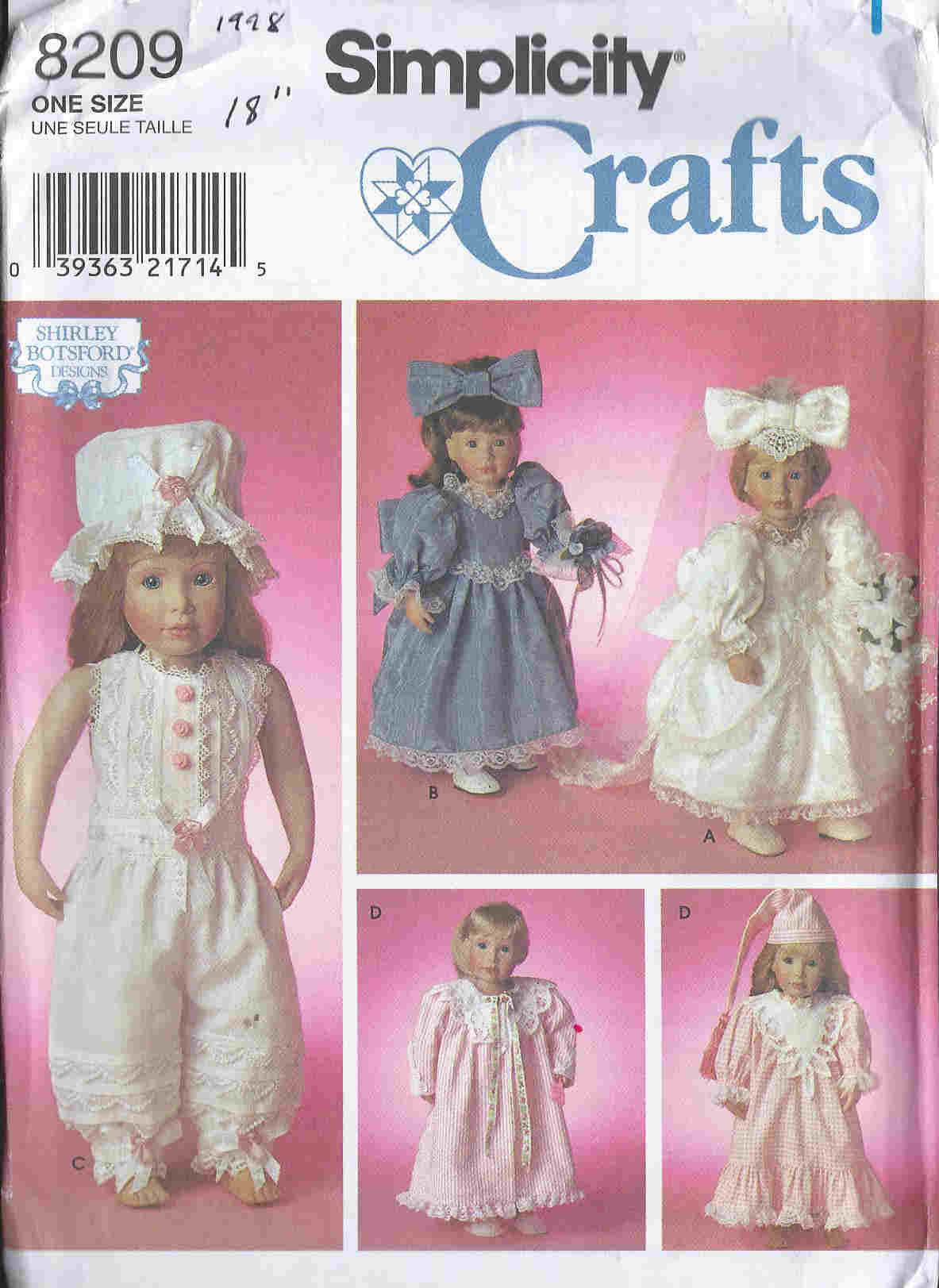 american girl doll sewing pattern