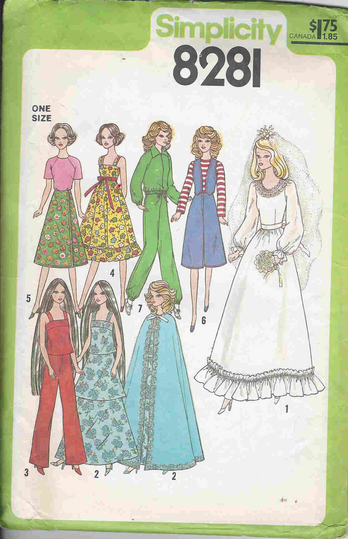 fashion doll wardrobe sewing pattern