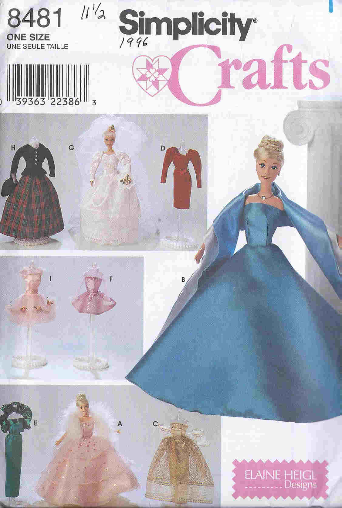 barbie doll dress jacket gown sewing pattern